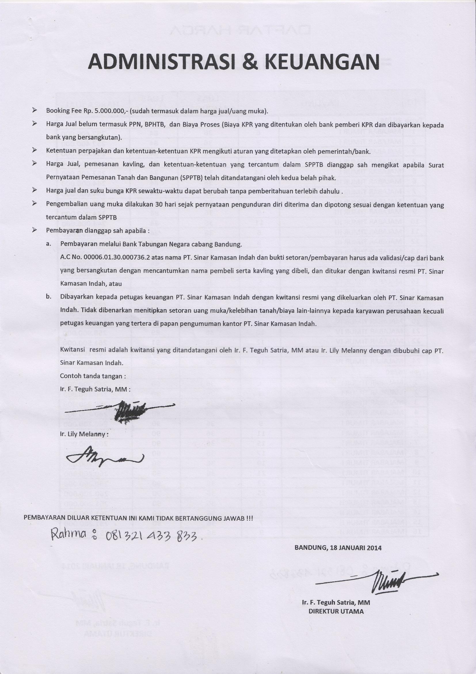 Damar Mas Regency Banjaran Unit Terbatas Info