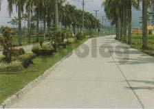 jalan utama beton