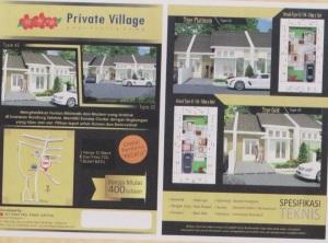 private village brosur
