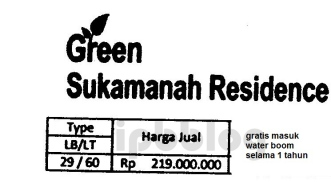 daftar harga green sukamanah residence