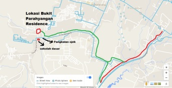 peta lokasi Bparahyangan