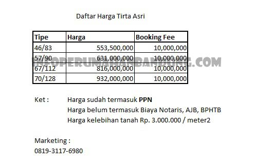 pricelisttirtaasri_jan17-copy