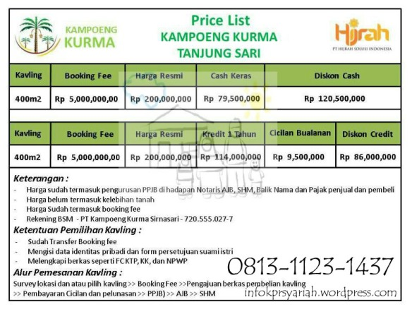 DaftarHarga Kampung Kurma Tanjungsari copy