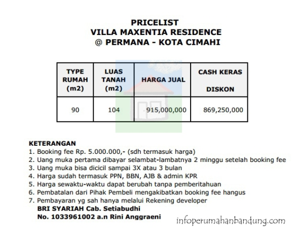 Pricelist_VillaMexenthia copy