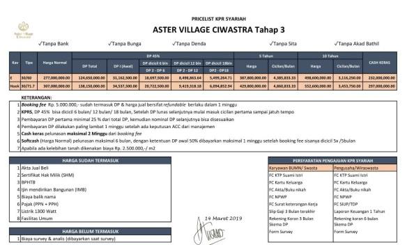 PListAsterVillageCiwastra_Tipe30