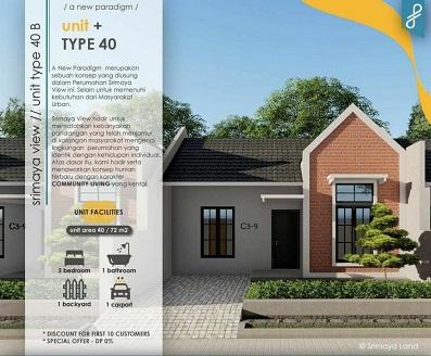 DesainTipe40B_Perumahan di Padalarang_SrimayaViewPadalarang