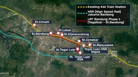 jalur LRT Bandung Raya