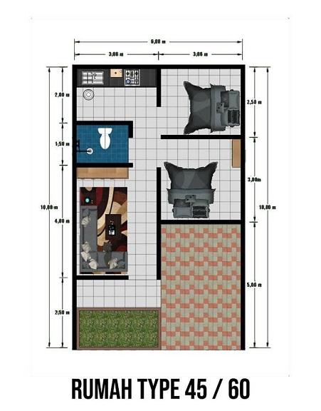 DesainTipe45_perumahan di bandung_PondokIndahSukamukti_Tahap2