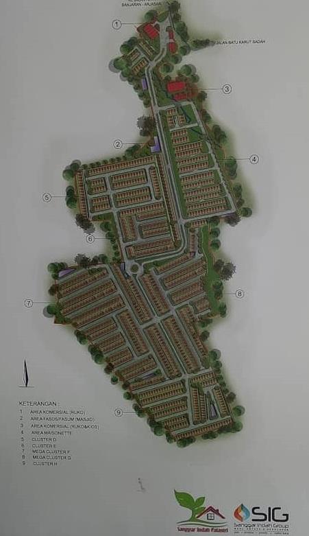 sitePlans_perumahan di bandung_SanggarIndahPalastri