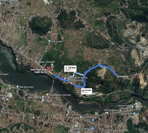 PetaLokasi_perumahan di bandung barat_CrownGiriwangi