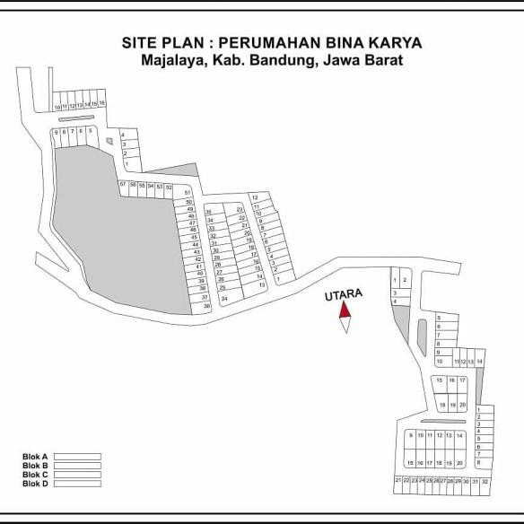 SitePlan_perumahan di bandung_BinakaryaMajalaya