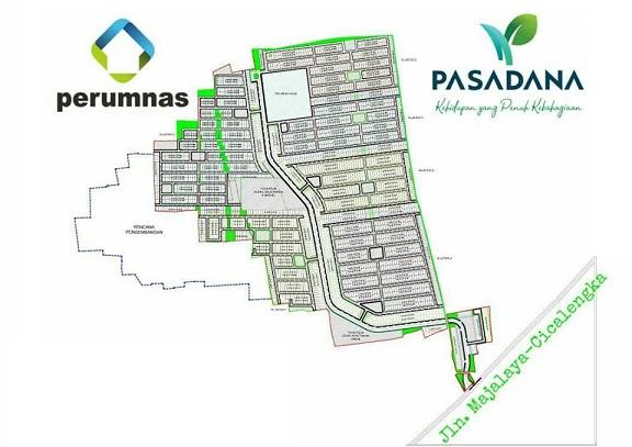 SitePlan_perumahan di bandung_PerumnasPasadana