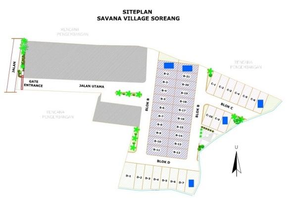 SitePlan_perumahan di soreang_SavanaVillageSoreang