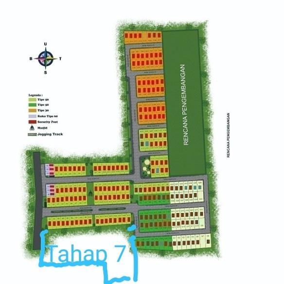 SitePlan2_perumahan di Ciwastra_AVCTahap7