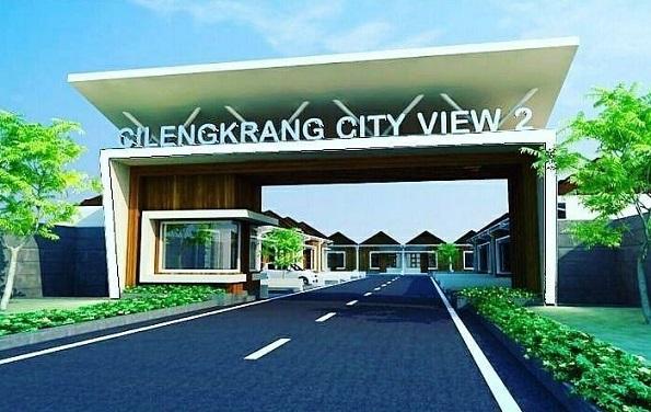 Desain Gate Cilengkrang City View 2 Perumahan di Bandung