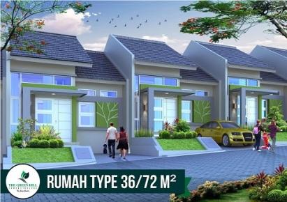 Desain Tipe 36 Perumahan di Bandung The Green Hill Taman siBolang