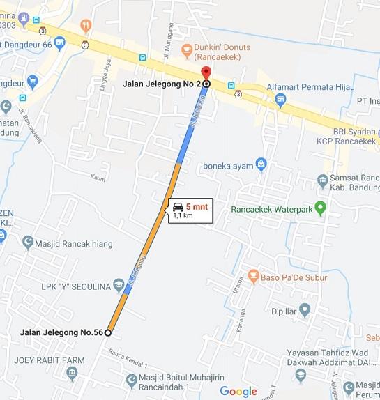 PetaLokasi_Perumahan di Bandung_AlFathResidence