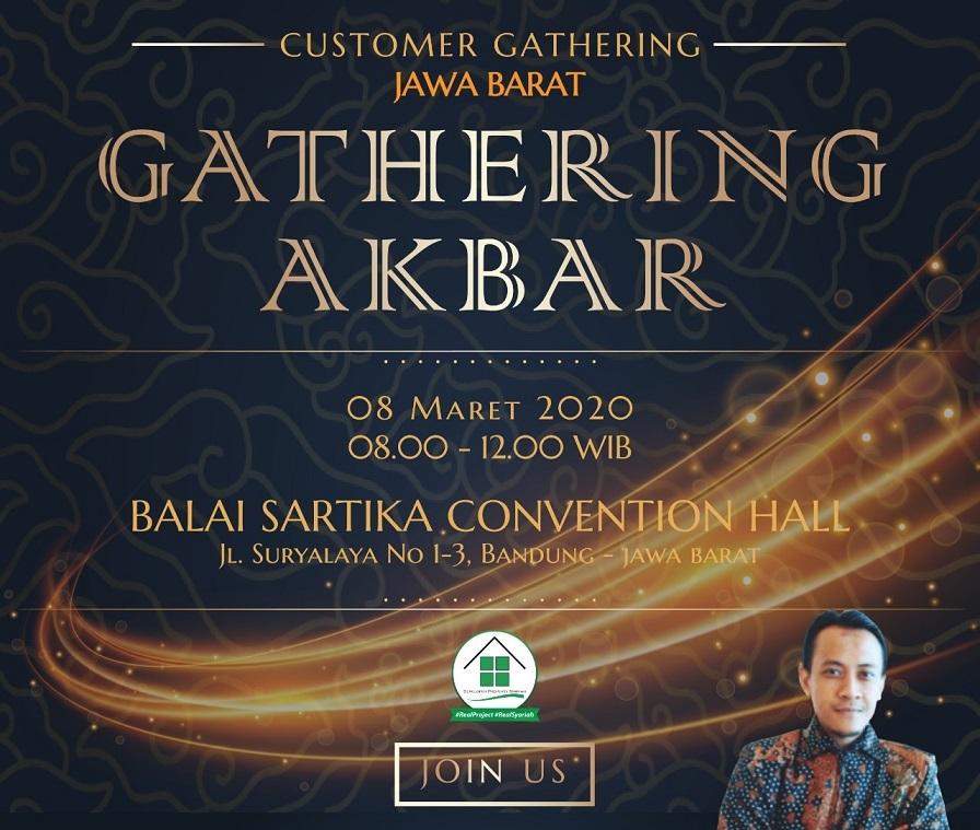 Poster Perumahan di Bandung Gathering Akbar 8 Maret 2020