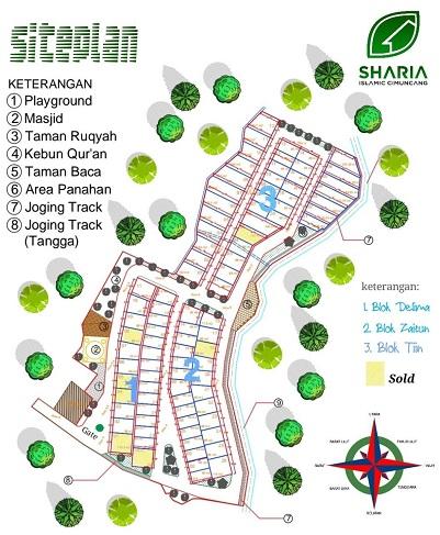 SitePlan Perumahan Bandung Developer Syariah Sharia Islamic Cimuncang