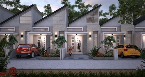 Desain 1 lantai Perumahan di Bandung Aster Village Ciwastra