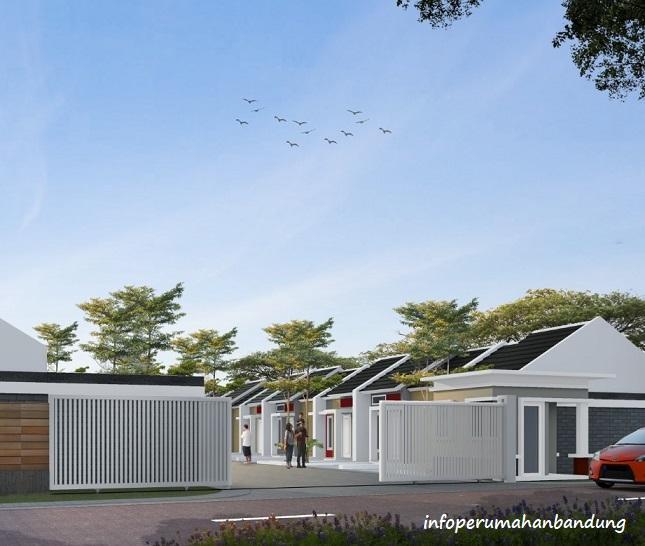 Desain Gate Perumahan Bandung Mekar Sari Asri