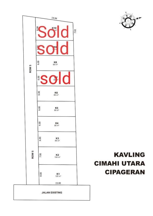 Site Plan Kavling di Bandung CIpageran Villas