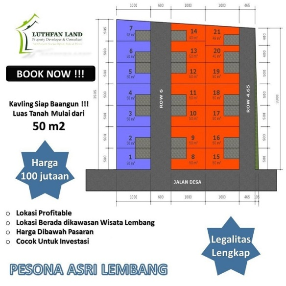Site Plan Pesona Asri Lembang Perumahan di Bandung