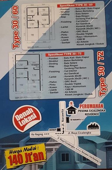 Brosur Perumahan di Bandung Pesona Cicalengka