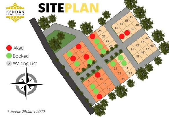 Site Plan Perumahan di Bandung Kendan Islamic Village