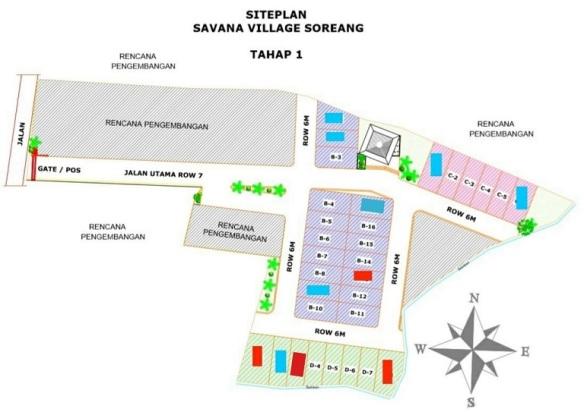 Site Plan Perumahan di Bandung Savana Village Soreang