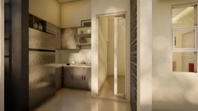 desain interior zanjabil town house rancaekek perumahan di bandung