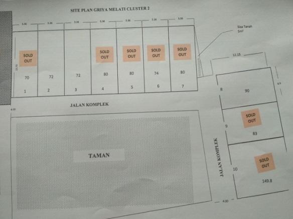 Site Plan Griya Melati Cluster 2 Perumahan di Bandung