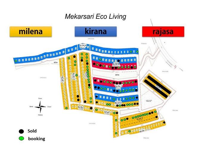 Site Plan Mekarsari Eco Living Perumahan di Bandung