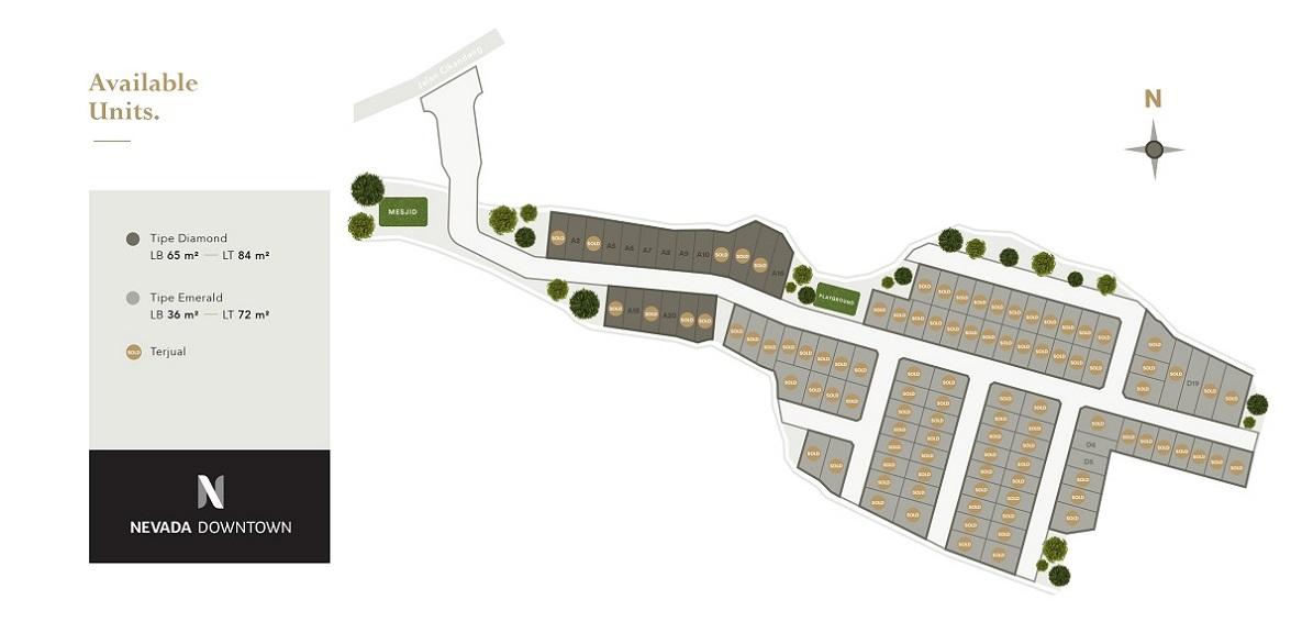 Site Plan Nevada Downtown Perumahan di Bandung