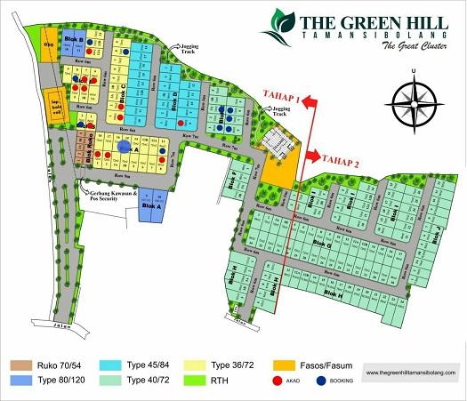 Site Plan The Green Hill Taman si Bolang Perumahan di Bandung